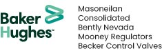Logo Baker Hughes - Masoneilan - Consolidated - Bently Nevada - Mooney Regulators - Becker Control Valves