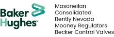 Logo Baker Hugues - Masoneilan - Consolidated - Bently Nevada - Mooney Regulators - Becker Control Valves